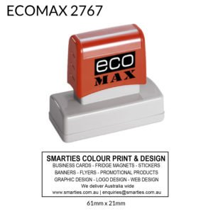 Ecomax Rectangle Stamp 61x21mm Australia