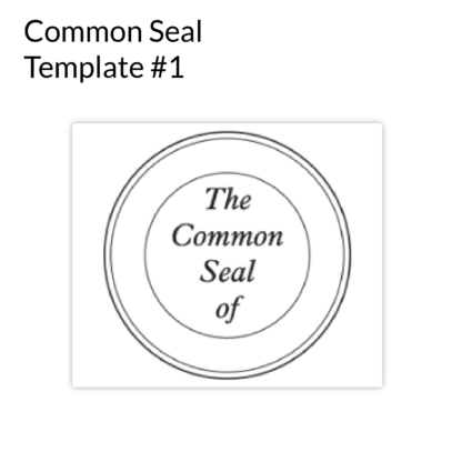 Common Seal Template 1