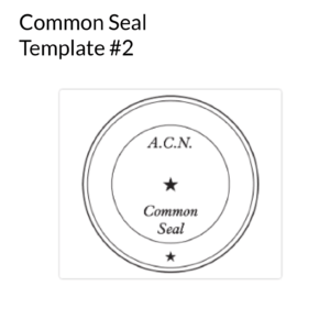 Common Seal Template 2
