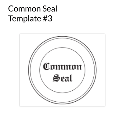 Common Seal Template 3