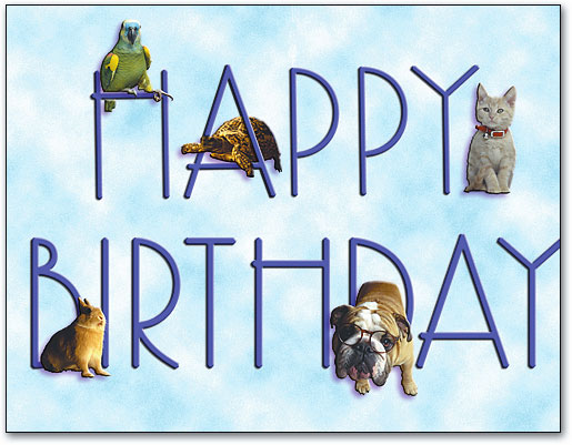 Veterinarian Birthday Card