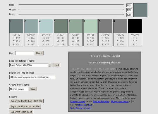 Triadic Color Scheme Websites