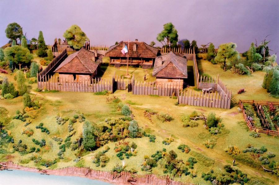 Arkansas Post Museum Diorama   Scale Models Unlimited Arkansas Post Museum Diorama  bigpost