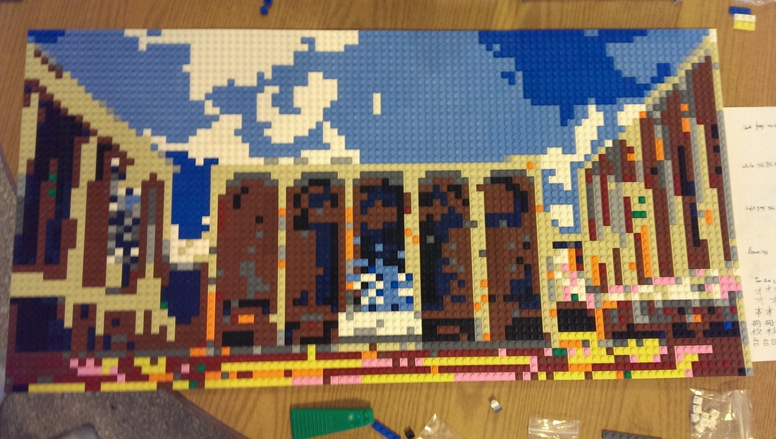 Our Google Lego Mosaic Adventure   Snazz Industries