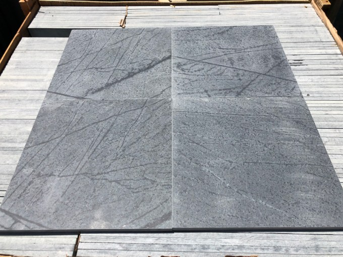 Soapstone Tile Flooring M  Teixeira Soapstone maintains an inventory of 12    x 12    and 18    x 18     tiles for immediate delivery  24    x 24     12    x 24    or any other random cut  sizes can
