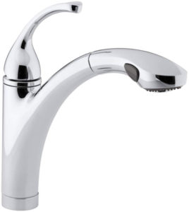 All Kohler Kitchen Faucets   SOCI Polished Chrome Kitchen Series Pull Out