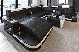 New Jersey XL Shape LED   Modern sectional sofas   SofaDreams X Large sectionals sofas