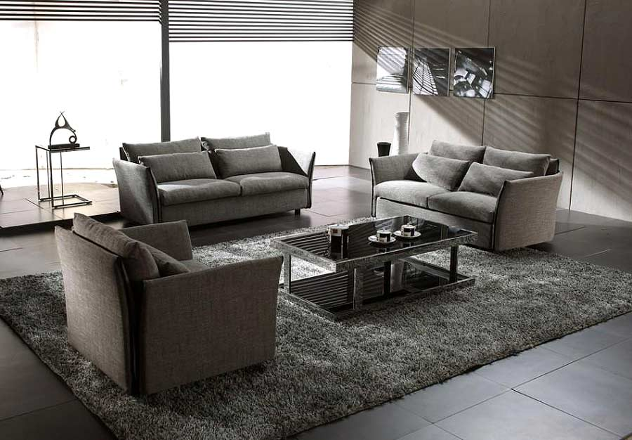 Grey Leather Sleeper Sofa