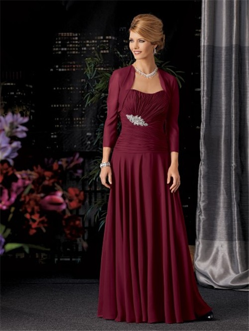 Tea Length Dress Pin Red Size Plus