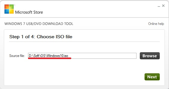 Windows USB / DVD Download Tool