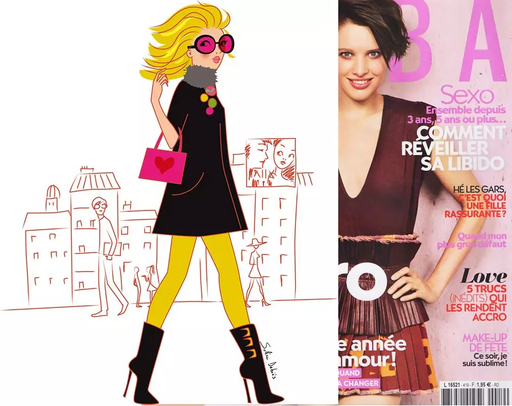 Fashion Illustrator and Designer   Solene Debies fashion women cartoonist