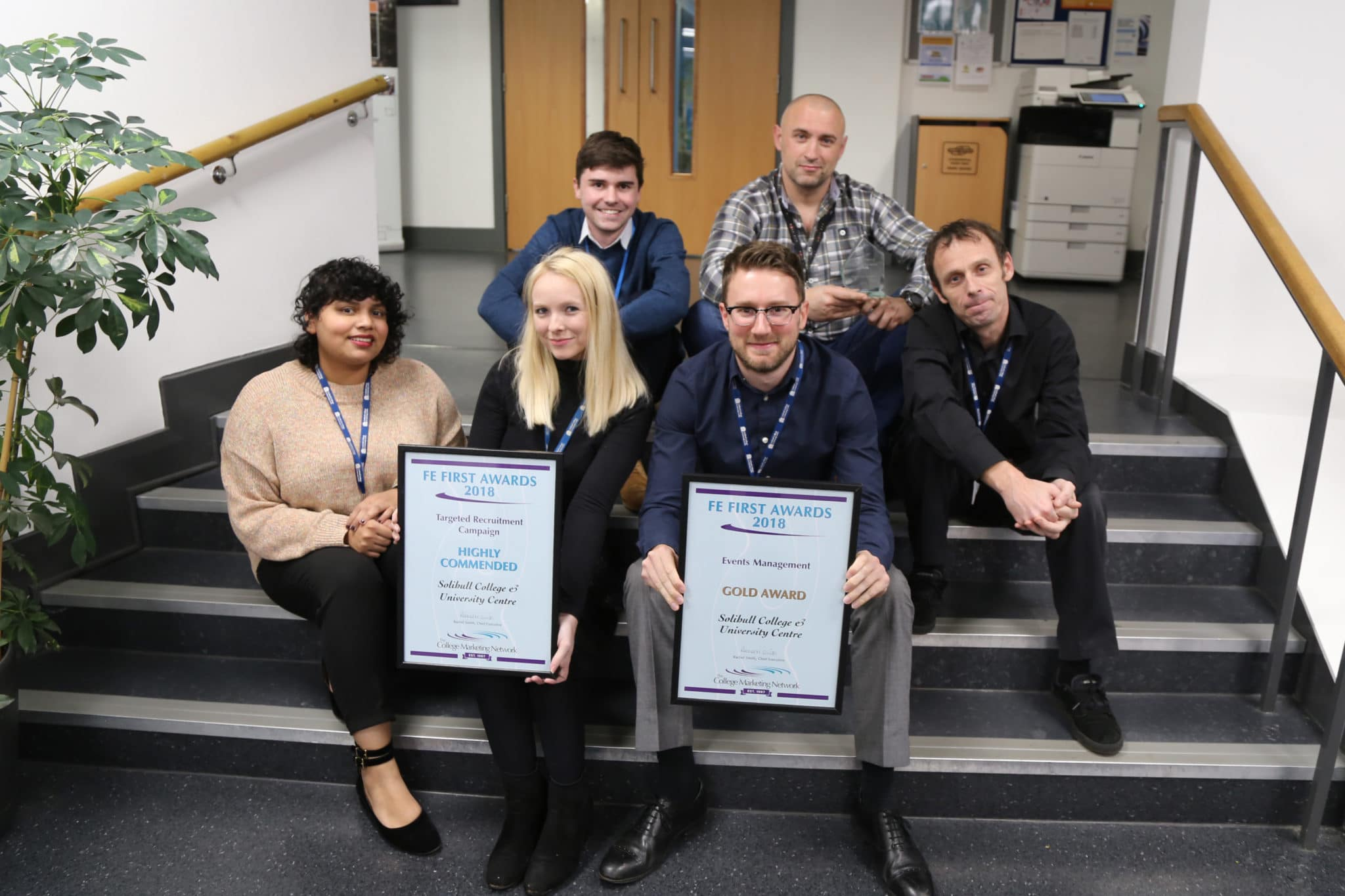 The Marketing Team & Graphic Design Team at Solihull College & University Centre