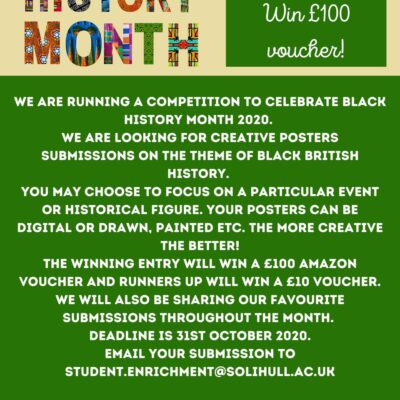 A poster competition for Black History Month