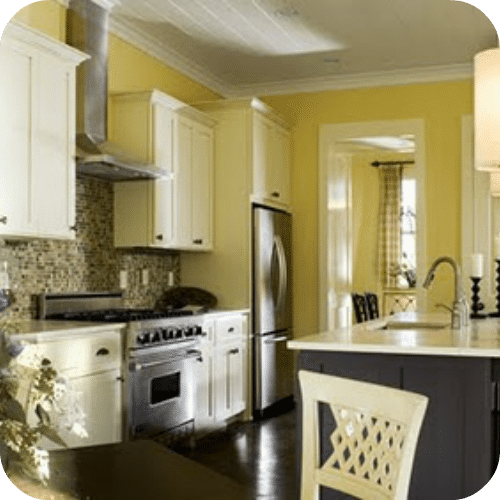 Yellow And Gray Kitchen Decor