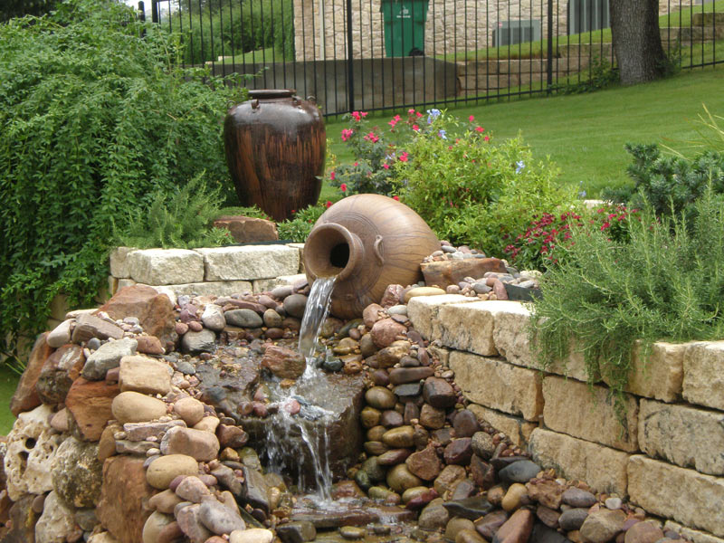 Outdoor Water Feature Landscaping Austin Texas