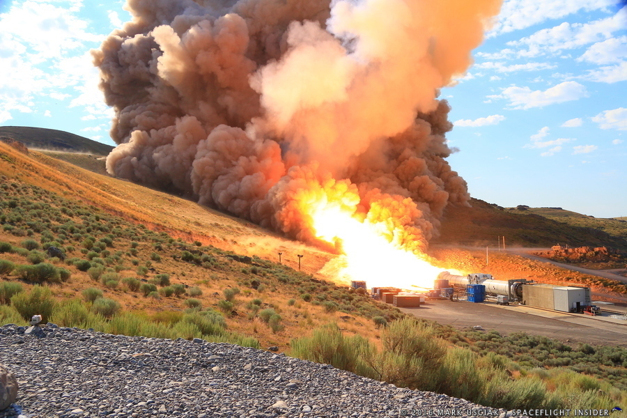 Photo Gallery Orbital Atk Qm 2 Solid Rocket Booster Test
