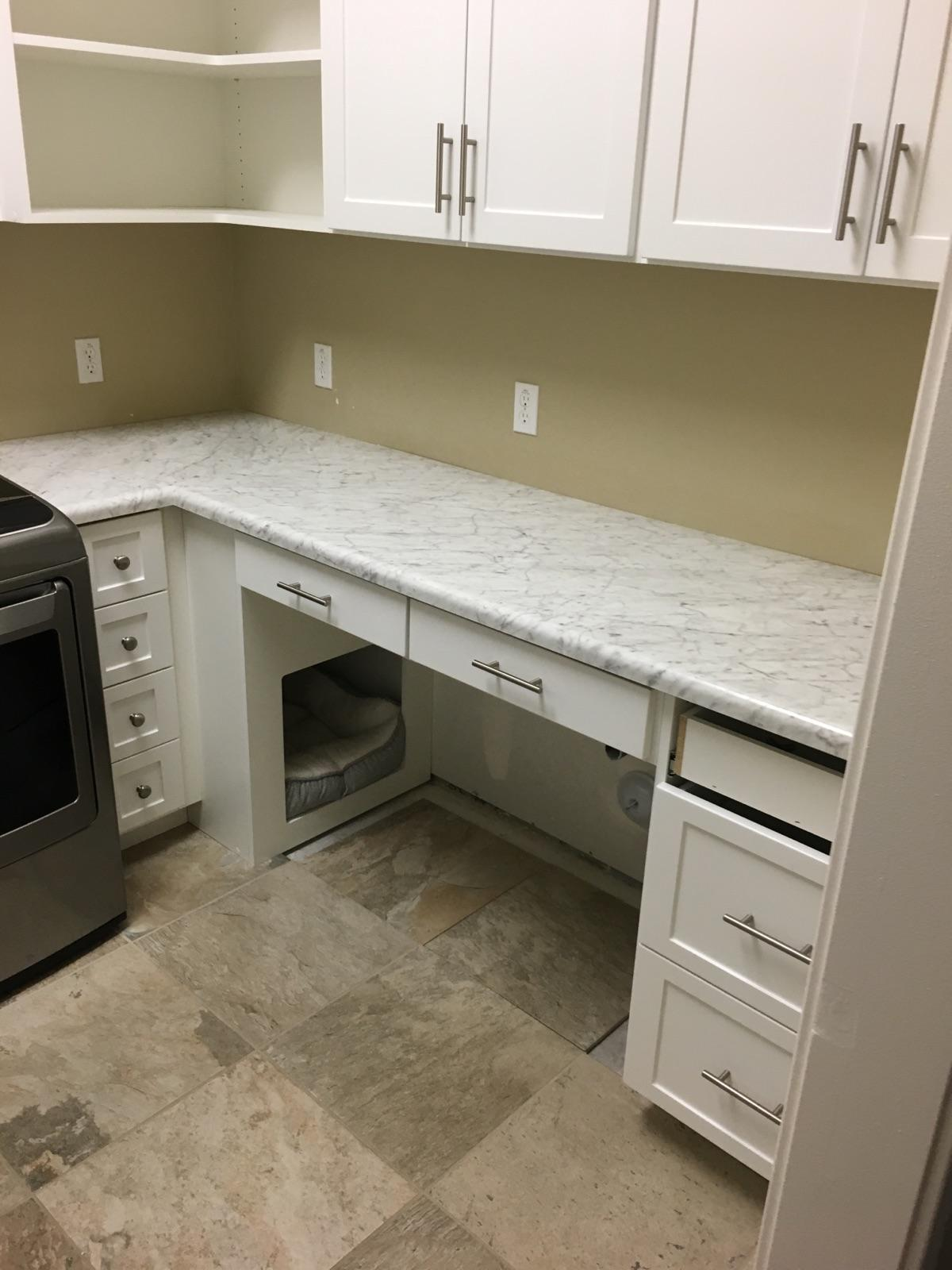 Built Desk And Cabinets