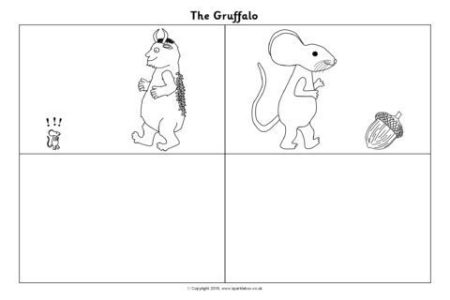 English Worksheets Sequence Gruffalo Sentences T