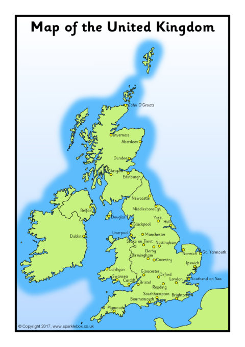 A4 Maps Of The Uk And British Isles
