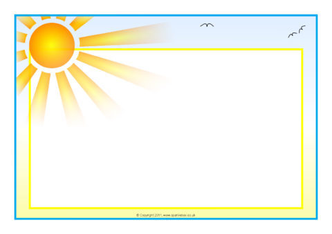 Weather Themed A4 Page Borders Landscape