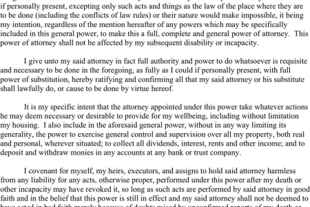 Free Letter Templates Social Security Power Of Attorney Form