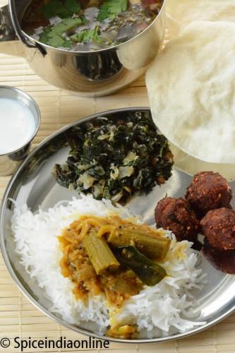 Lunch Menu Vegetarian Indian