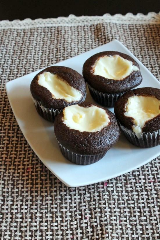 Eggless Black Bottom Cupcakes Recipe Easy Black Bottom