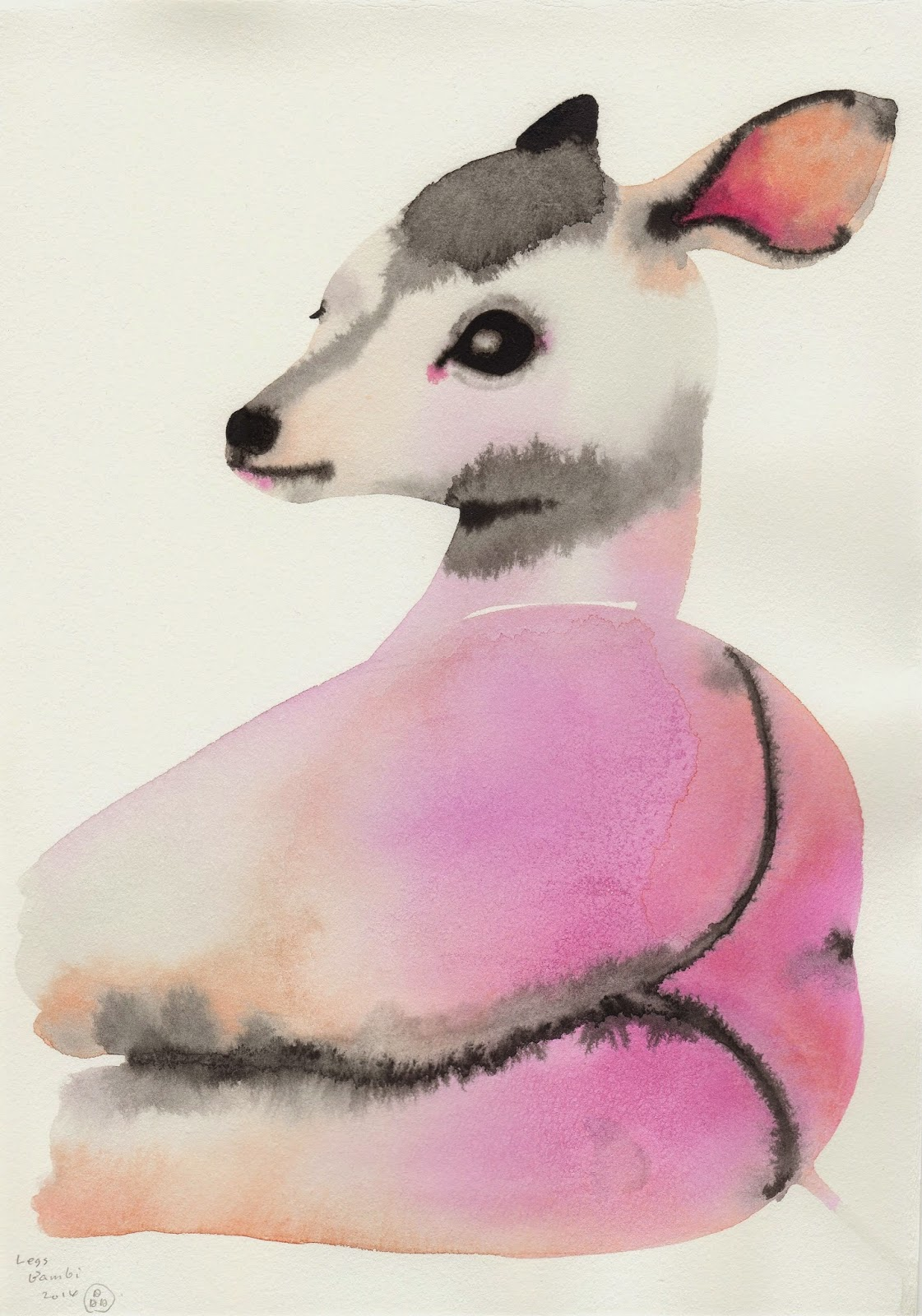 Watercolor Paintings of Animals with Ladylike Legs by ...