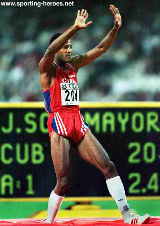 Javier Sotomayor World Gold In 1997 Olympic Silver In
