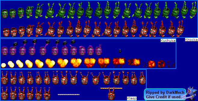 Donkey Kong Country Sprite Sheets