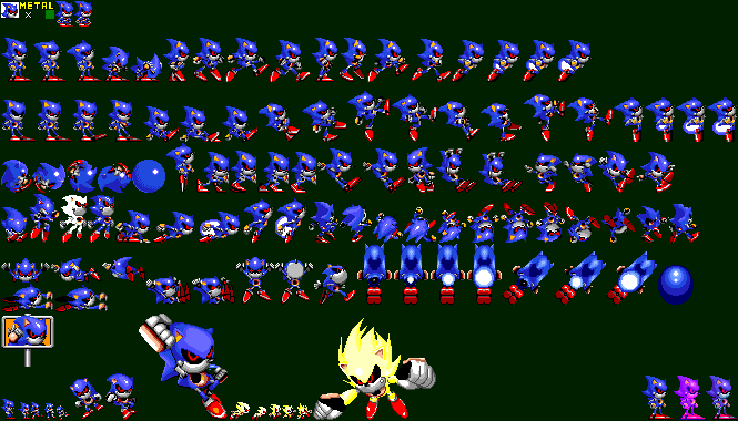 Advance Modern Supersonic Sprites