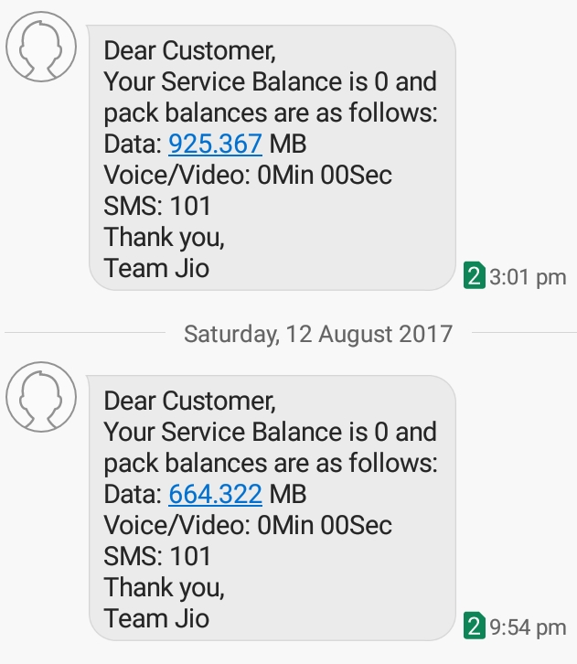 check net balance in jio