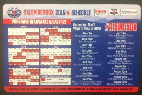 red sox schedule # 59