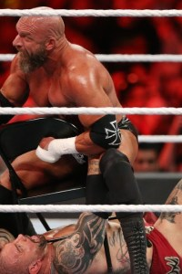 Ouch! Tripple H Rips Out Batista's Nose Ring With Pliers! – WrestleMania 35