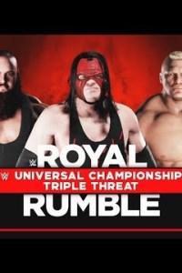 WWE: Lesnar vs. Strowman vs. Kane – Royal Rumble 2018