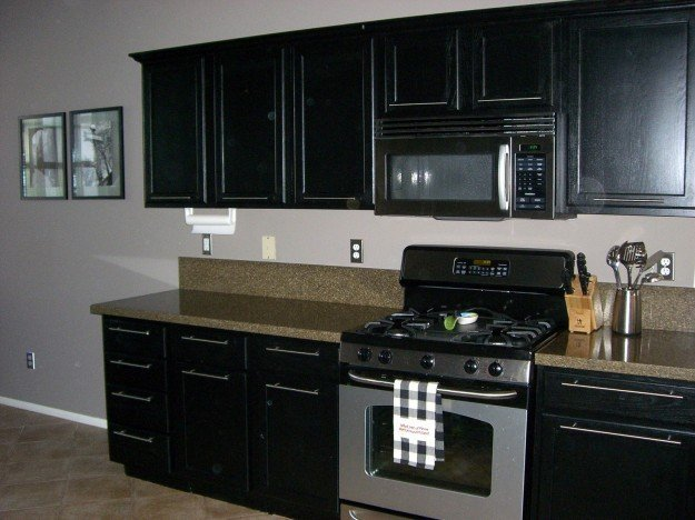 Painting Black Kitchen Cabinets Home Furniture Design