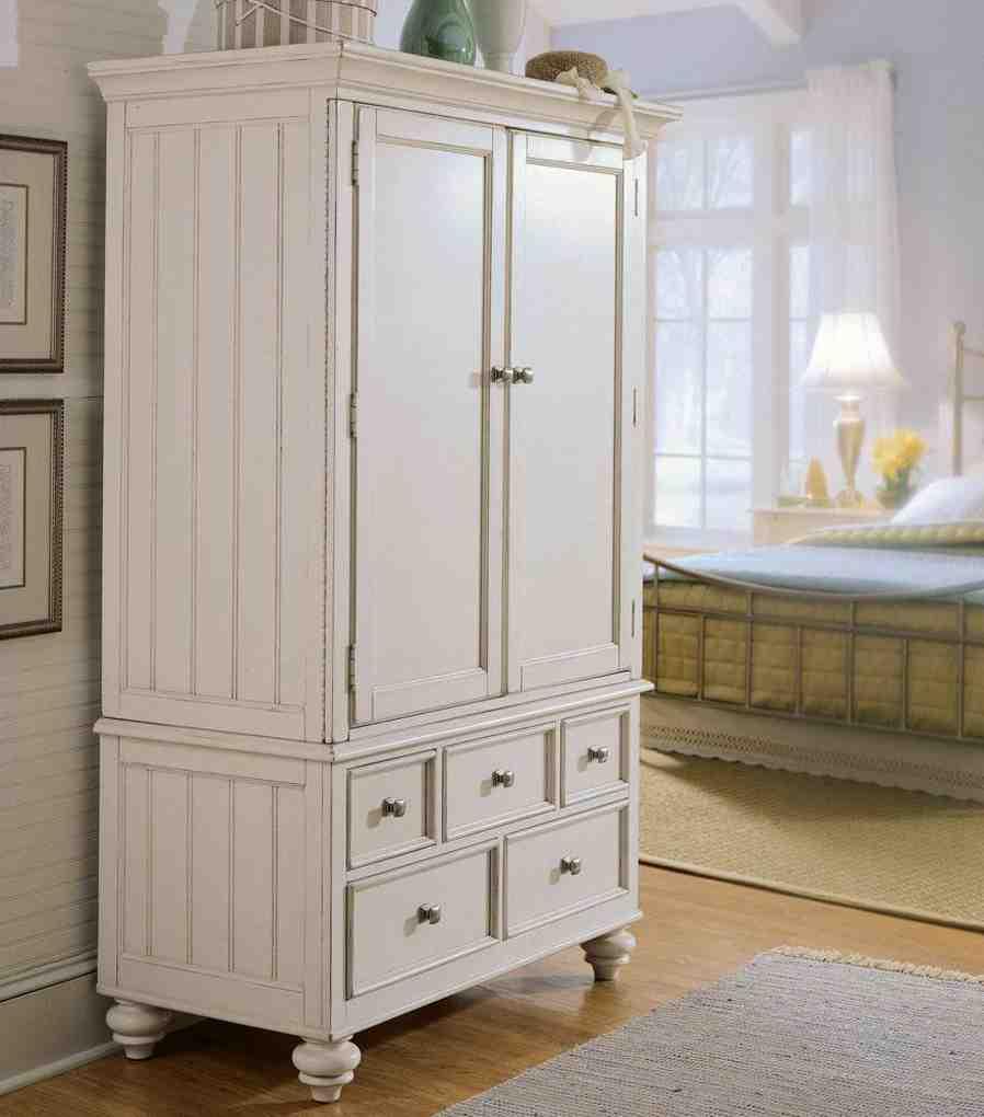 White Wicker Armoire Home Furniture Design