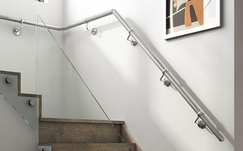 Wall Mounted Metal Handrails Stair Parts Online | Modern Stair Handrail Wall Mounted
