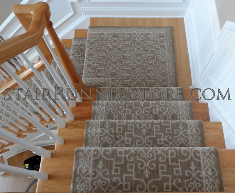 Stanton Sonja Stair Runner Winter Wheat 31 Stair Runners With Borders | Custom Carpet Runners For Stairs | Wood | Carpet Workroom | Charlotte Nc | Area Rugs | Hallway Carpet