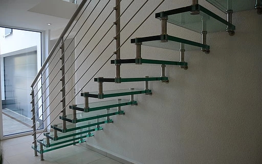 Glass Stairs Siller Stairs   Steel And Glass Staircase   Living   Wood   Contemporary   Old House   Glass Design Golden
