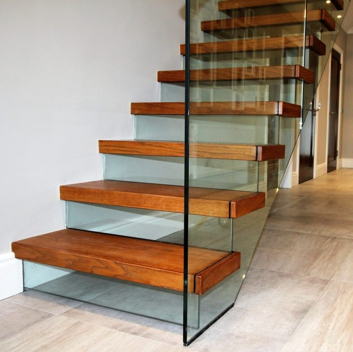 Risers Stairs Ireland By Jea | Tread Riser Staircase Design | Effective | Contemporary | Cad Detail | Folded Plate | Angled