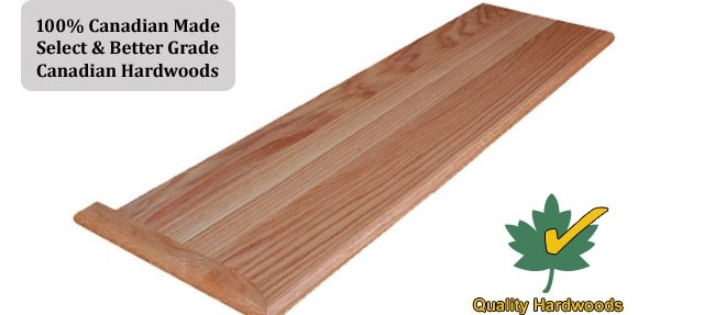 Buy Stair Treads Direct In Usa Online | Solid Wood Stair Treads | Stairway | Commercial | Standard Length 48 | Domestic Timber Stair | Stainless Steel Anti Slip Stair