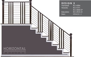 House Of Forgings Horizontal Metal Stair Railing Systems   Horizontal Iron Stair Railing   Chris Loves   Modern   Popular   Low Cost   Remodel