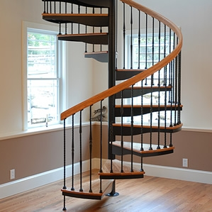 Spiral Stairs Spiral Staircases For Sale The Stairway Shop   Iron Spiral Staircase For Sale   Round   Abandoned   Antique   Grey Exterior   Loft