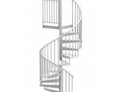 60 Diameter Spiral Staircases Outdoor Indoor Spiral Stairs   10 Ft Spiral Staircase   Arke Eureka   Balcony Railing   Lowes   Gray Interior   Attic Staircase