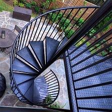 Spiral Staircase Kits Circular Spiral Stairs Kit Stairways Inc   5 Foot Spiral Staircase   Metal   Hayden Gray   Reroute Galvanized   Steel   Handrail