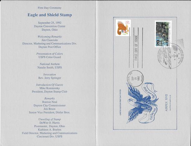 2596 Fd Program 29c Eagle Amp Shield Stamps W Fdc Ebay