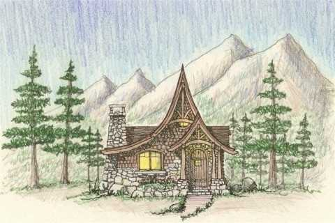 Storybook Cottage House Plans Hobbit Huts To Cottage