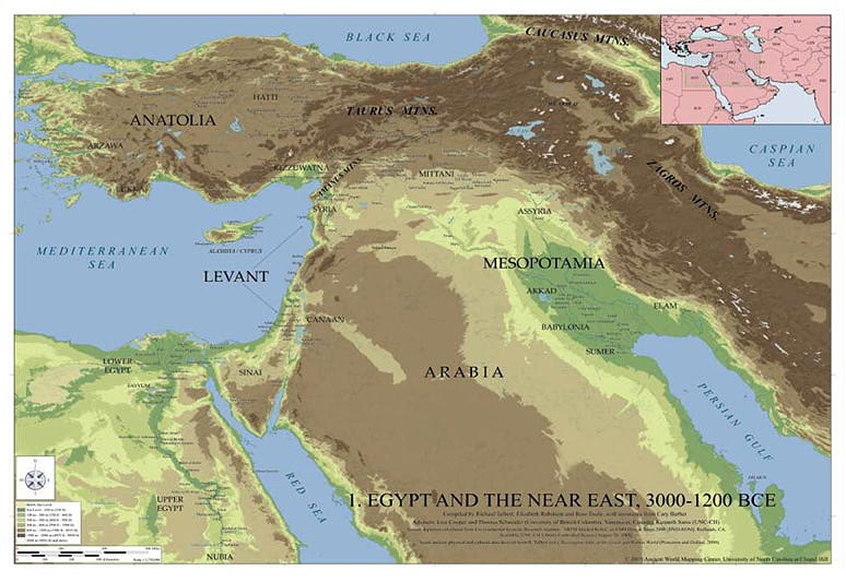Egypt and the Near East 3000 1200 BCE Wall Map   Stanfords     Egypt and the Near East 3000 1200 BCE Wall Map