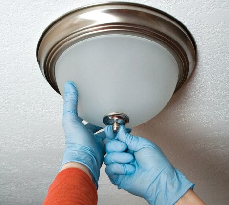 How to Replace a Ceiling Light Fixture in 8 SImple Steps   STANLEY Tools Check the fixture base to determine the maximum wattage bulb that can be  installed  After screwing in the proper bulb  restore power and test